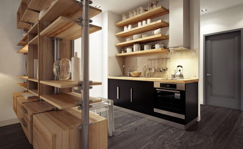 Однорядная кухня 6 кв.м 3