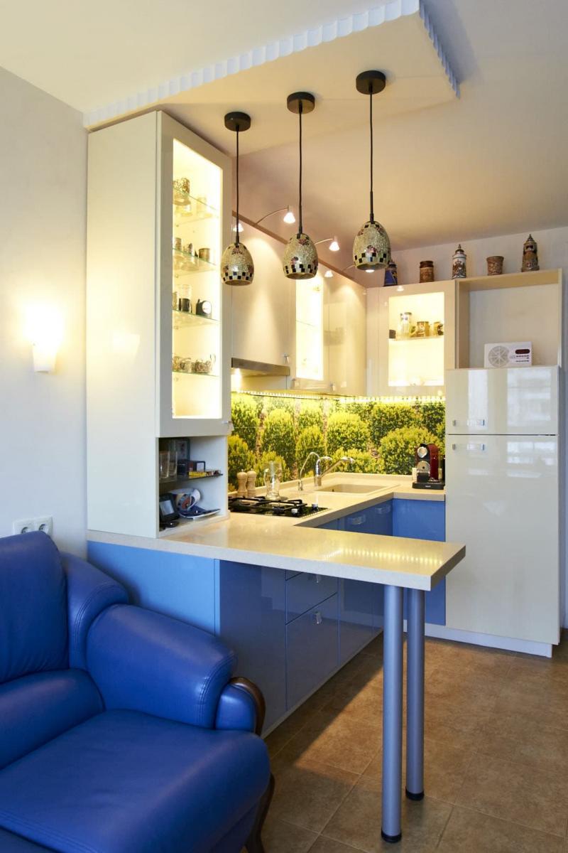 Освещение в кухне 6 кв. м 1