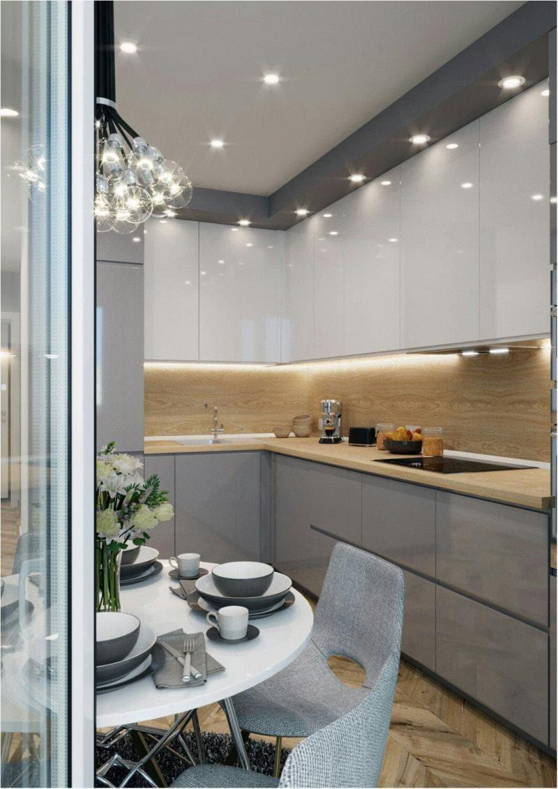 Освещение в кухне 6 кв. м 4