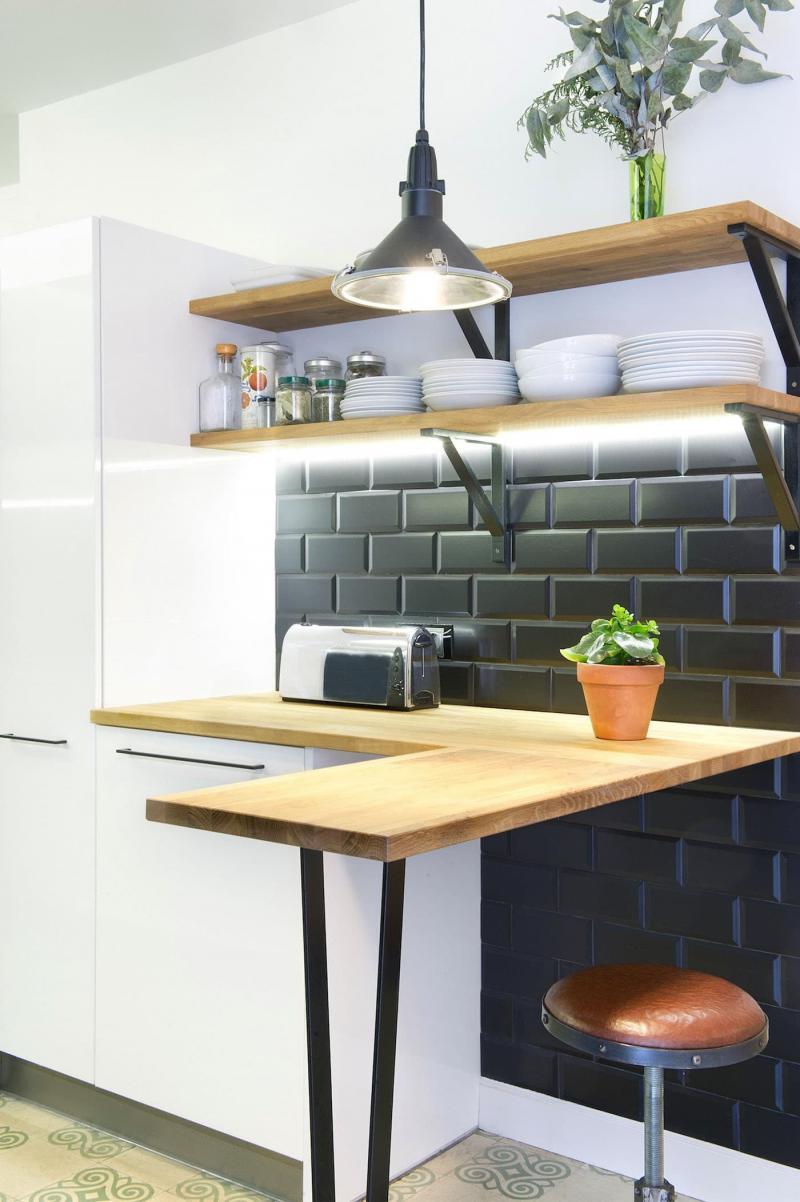 Освещение в кухне 6 кв. м 5