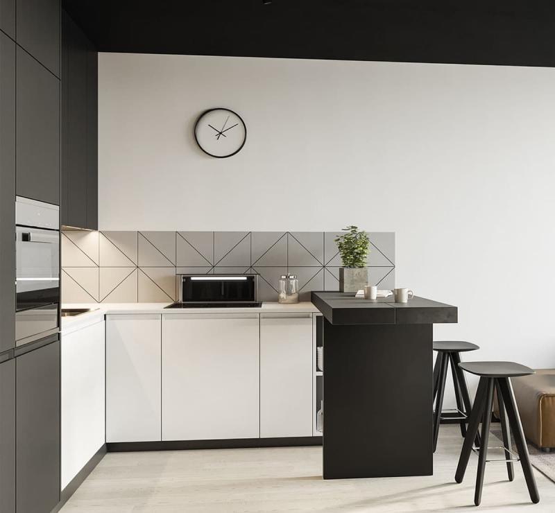 П-планировка в кухн 6 кв.м 4