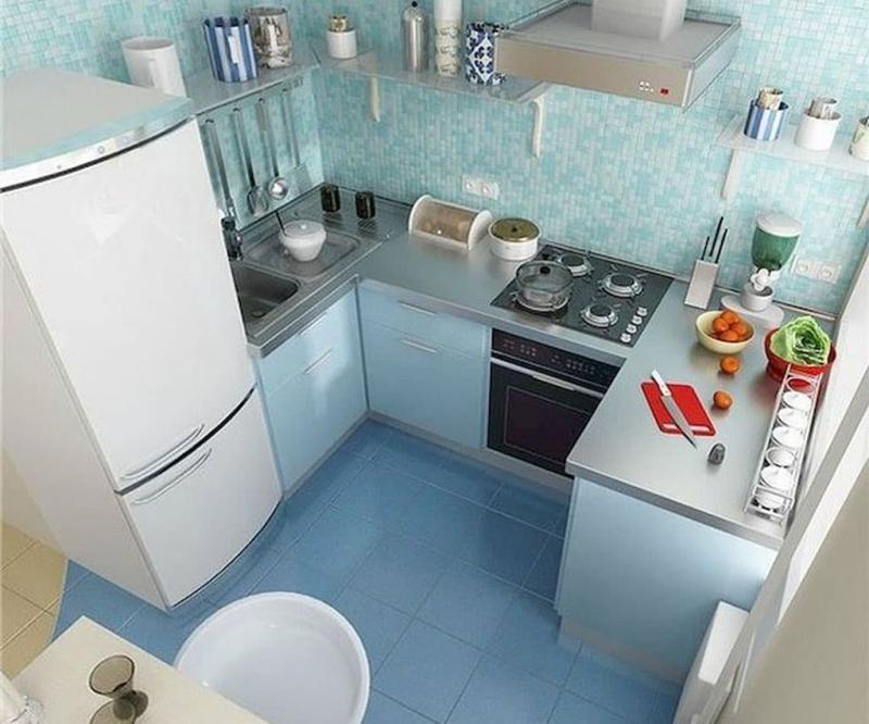 П-планировка в кухн 6 кв.м 6