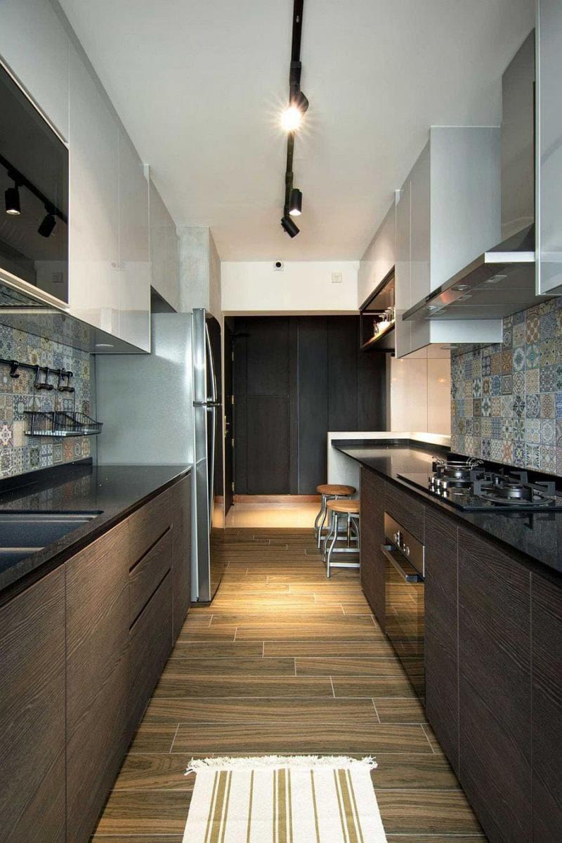 Параллельная планировка кухни 6 кв.м. 2