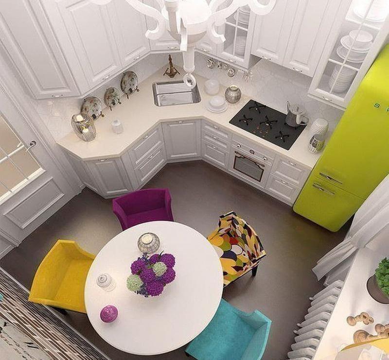 Угловая кухня 6 кв. м 6