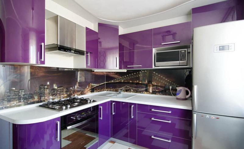Визуальные эффекты на кухн 6 кв. м 3