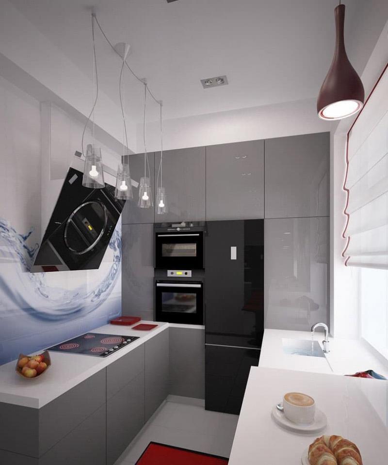 Встроенная бытовая техника для кухни 6 кв.м 3