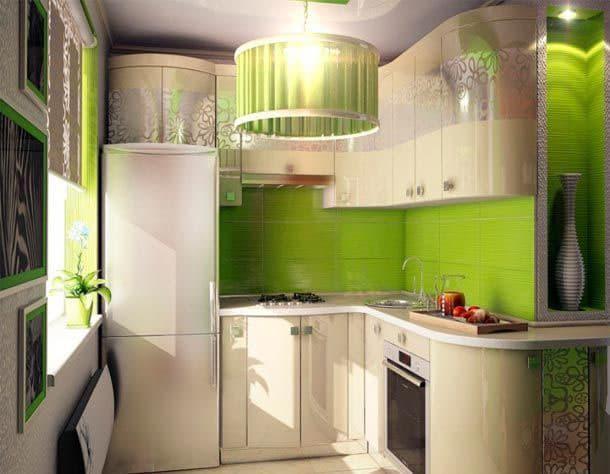 Зеленая кухня 6 в.м 2