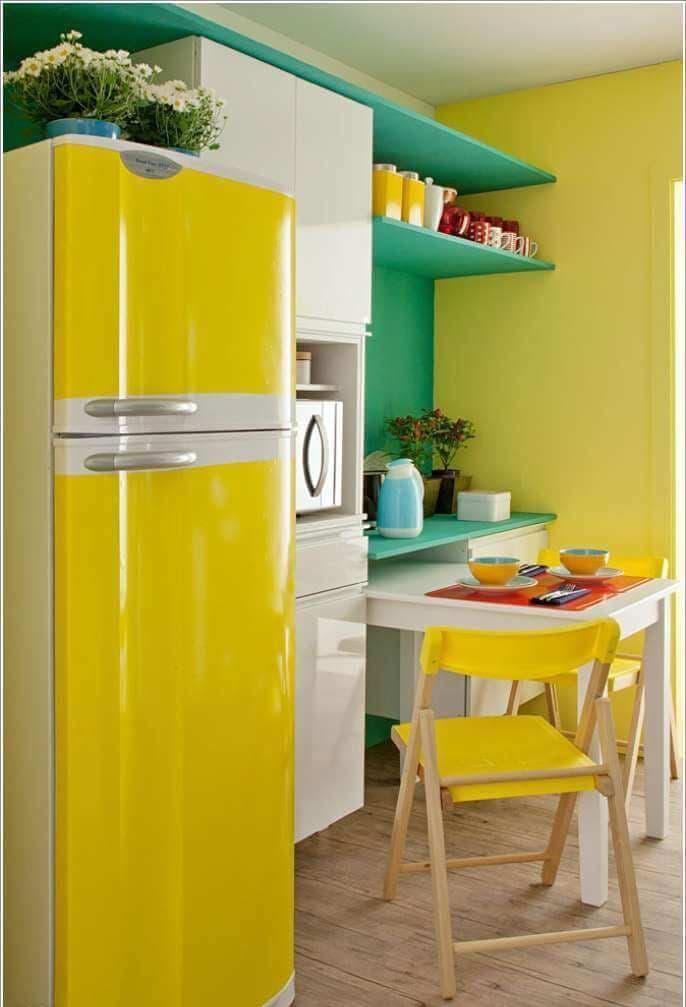 Желтая кухня 6 кв.м 2