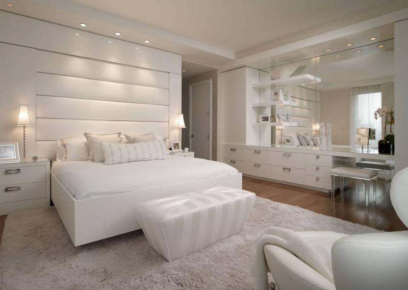 Белая спальня 18. кв. м 2