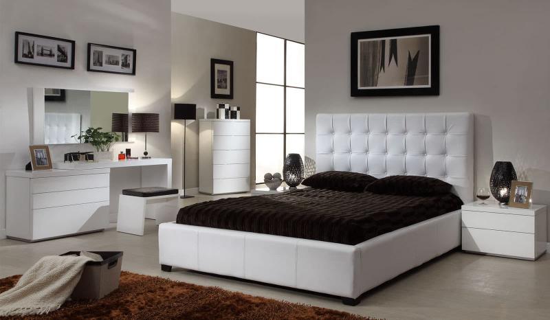 Белая спальня 18. кв. м 3