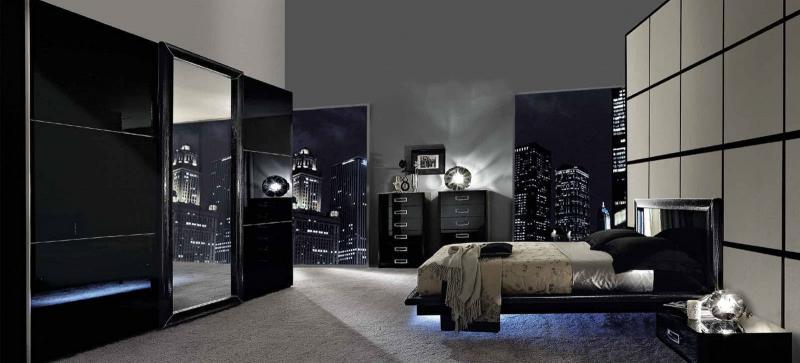 Черная спальня 18 кв. м 2