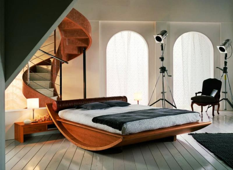 Интерьер спальни 18 кв. м 7