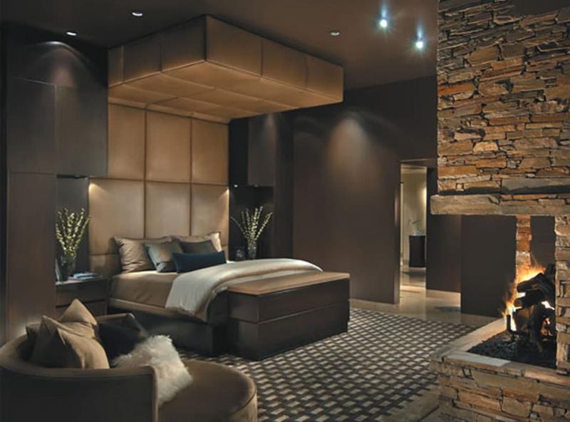 Коричневая спальня 18 кв. м 3