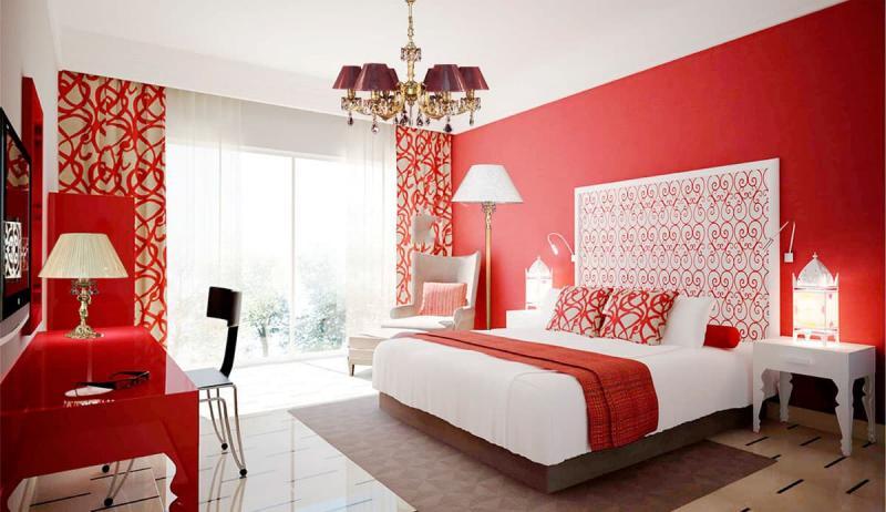Красная спальня 18 кв. м 3