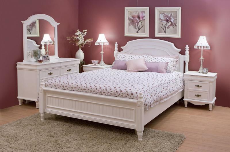 Розовая спальня 18 кв.м 1