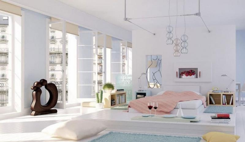 Спальня 18 кв. м с подиумом 4