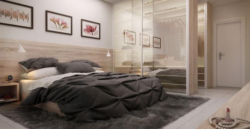 Спальня 18 кв.м с гардеробной 3