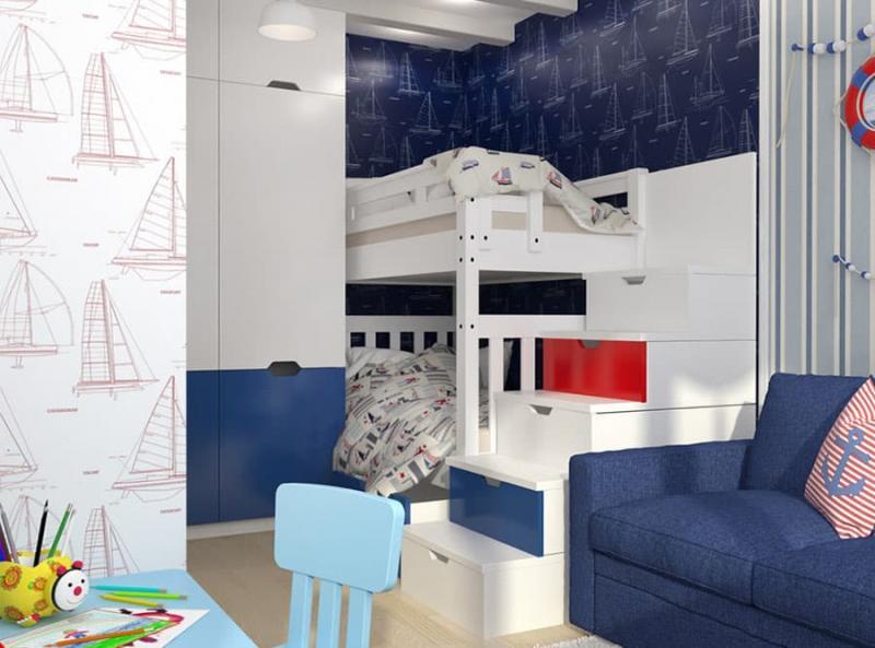 Спальня с двухярусной кроватью 1