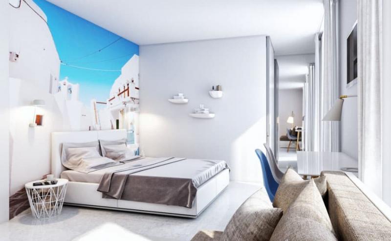 Спальня с фотообоями 1