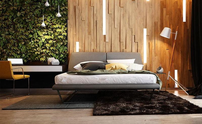 Спальня в стиле эко 1