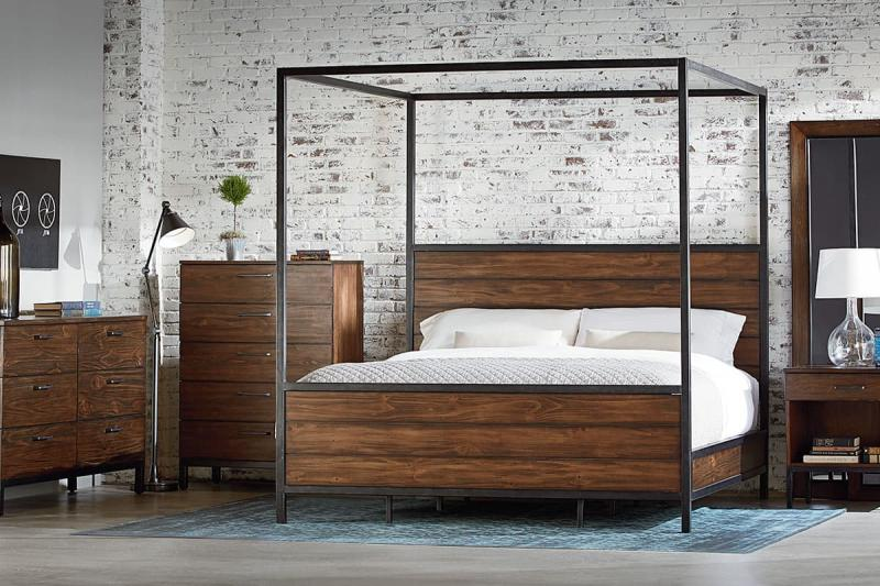 Спальня в стиле лофт 1