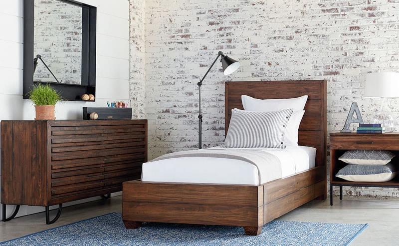Спальня в стиле лофт 2
