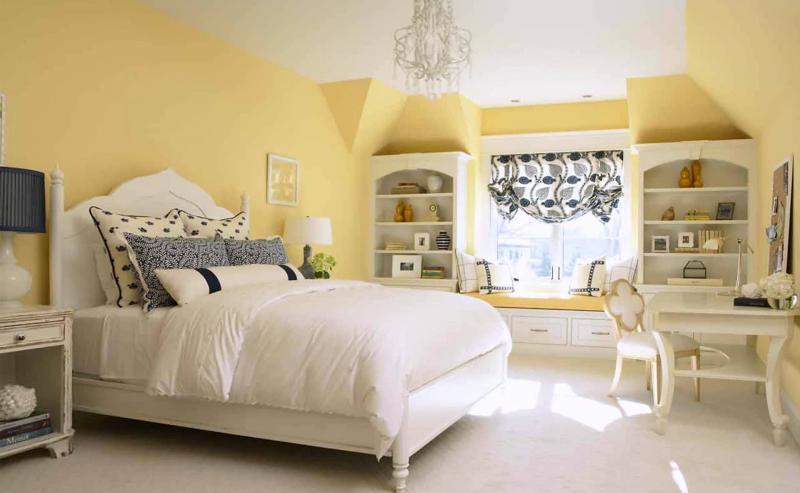 Желтая спальня 18 кв. м 3