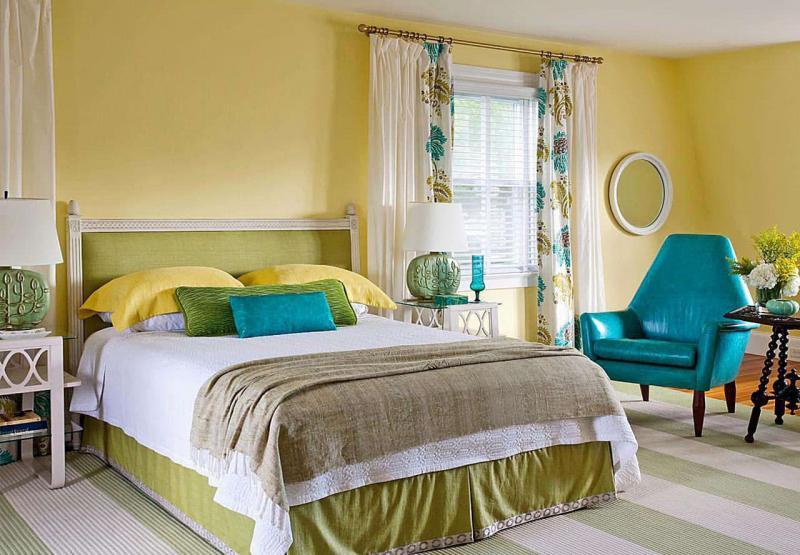 Желтая спальня 18 кв. м 4
