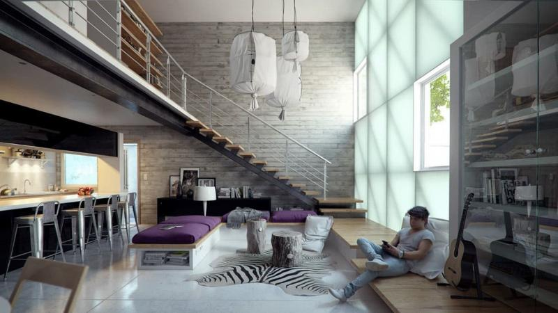 Квартира в стиле лофт 2