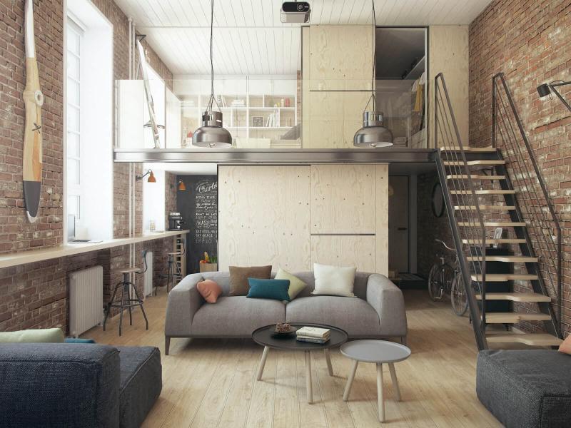 Квартира в стиле лофт 5