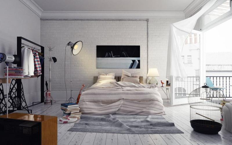 Спальня в стиле лофт 4