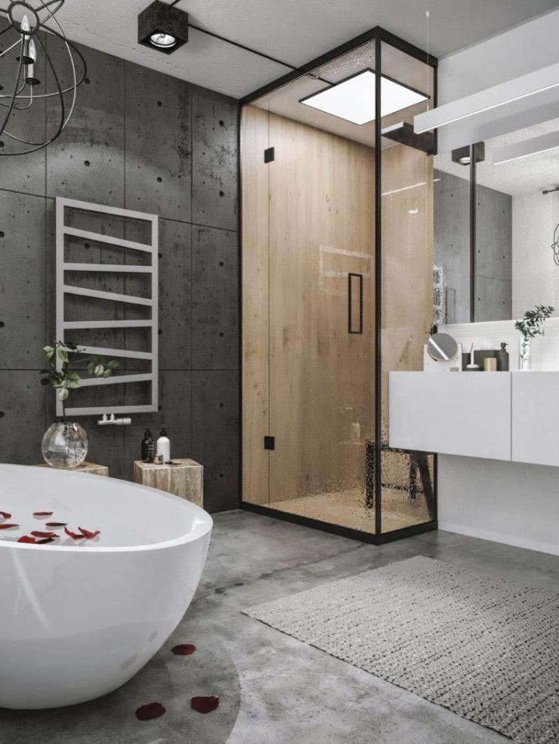 Ванная комната в стиле лофт 1