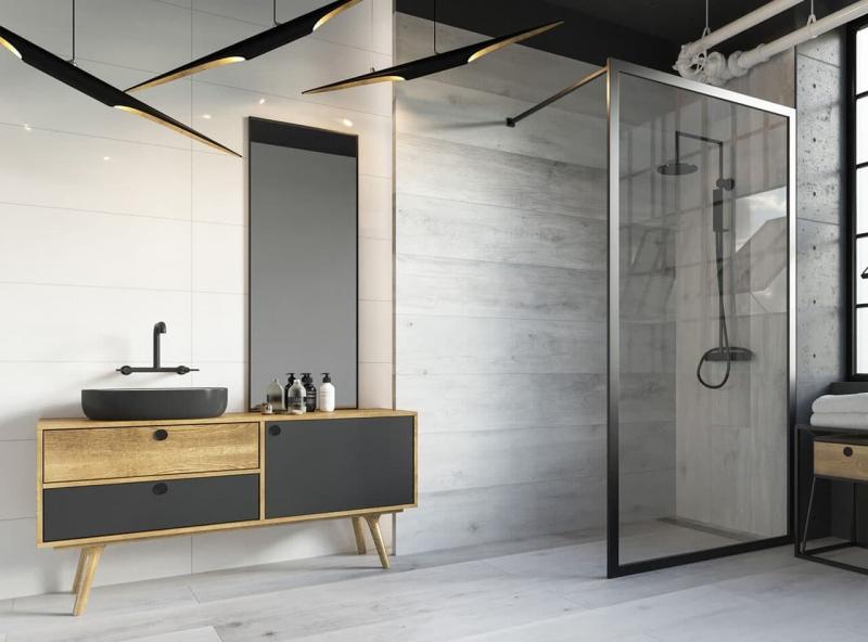 Ванная комната в стиле лофт 5