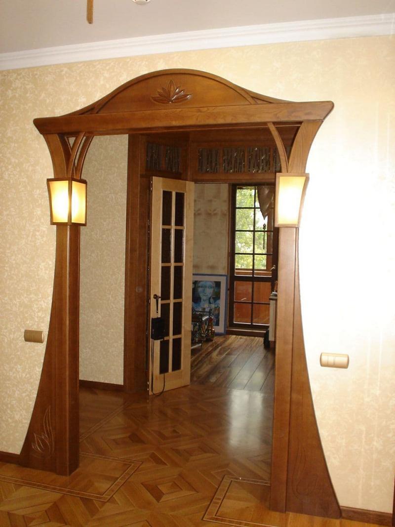 Идея для оформления дверного проема 5