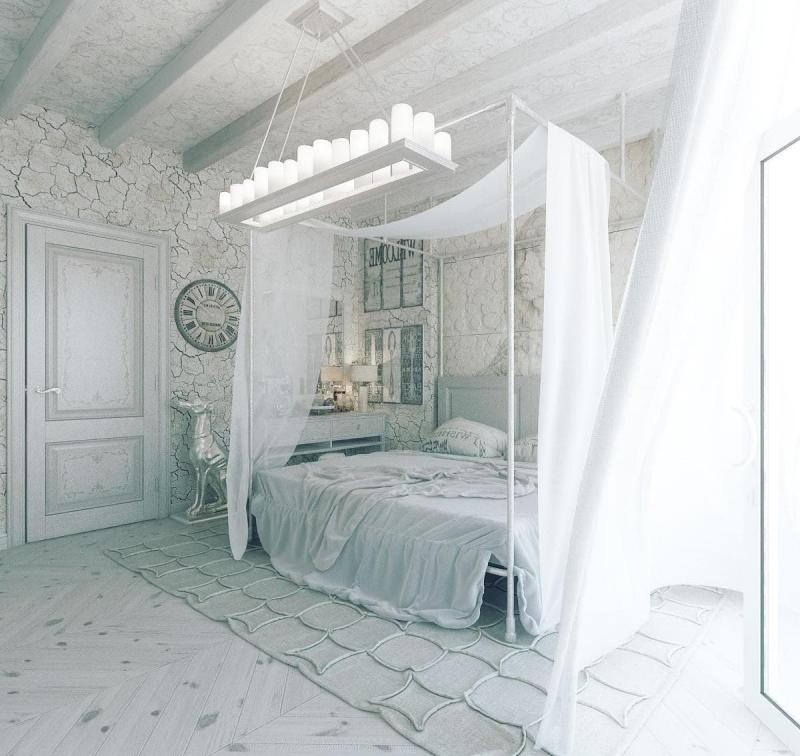 Люстра для спальни в стиле прованс 1