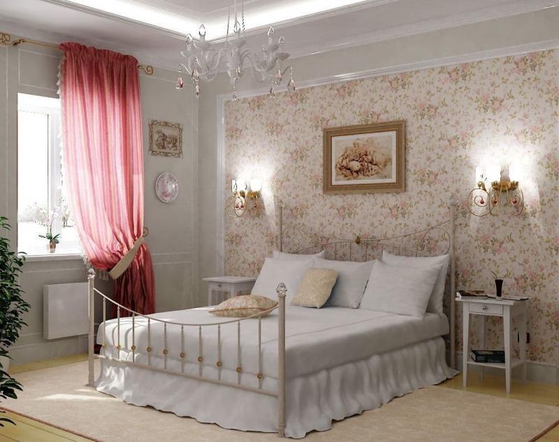 Люстра для спальни в стиле прованс 3