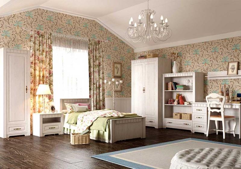 Шторы для спальни в стиле прованс 2