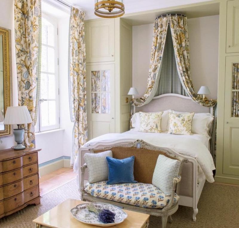 Шторы для спальни в стиле прованс 3