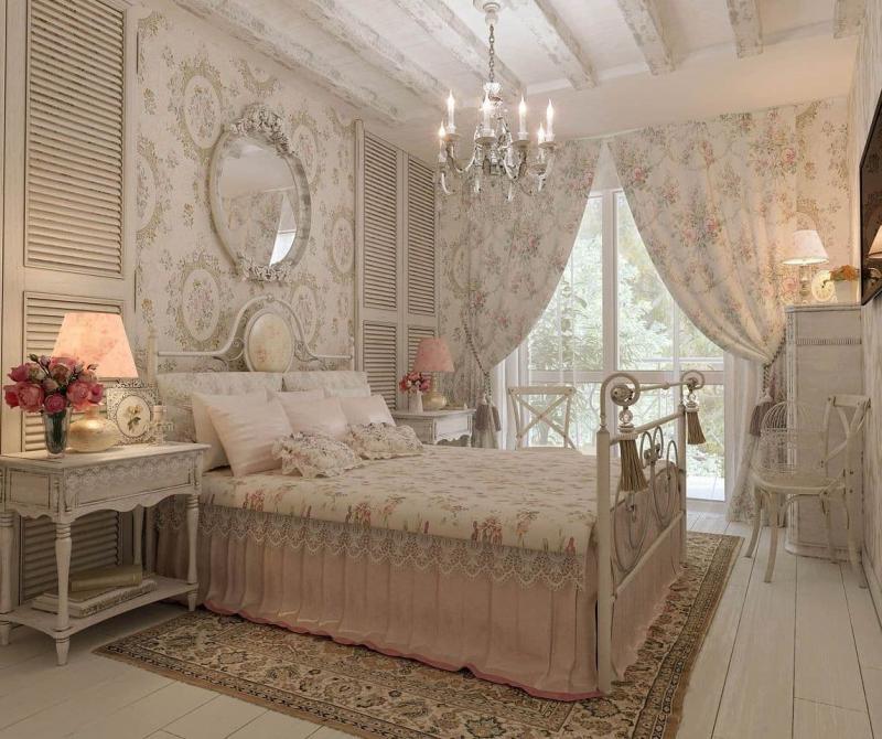 Зеркало для спальни в стиле прованс 1