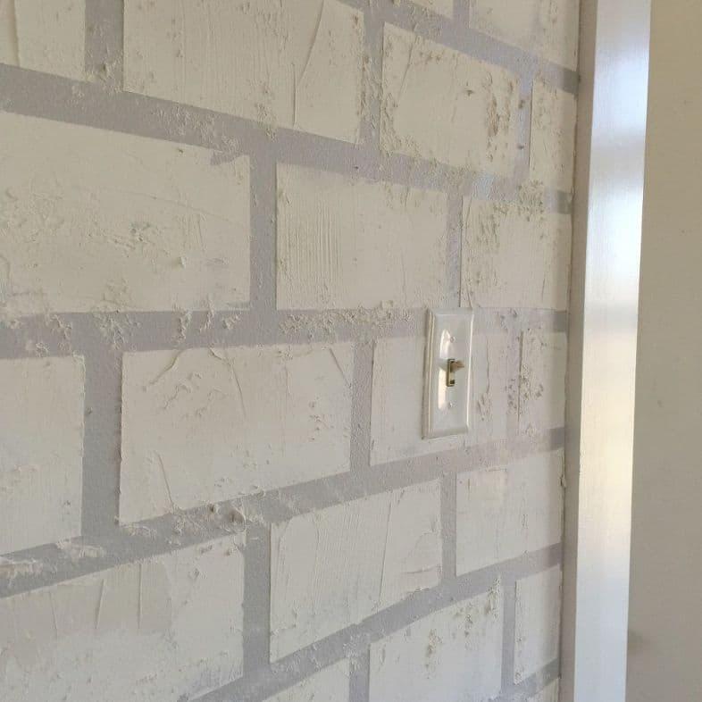 Искусственная кирпичная стена своими руками 3