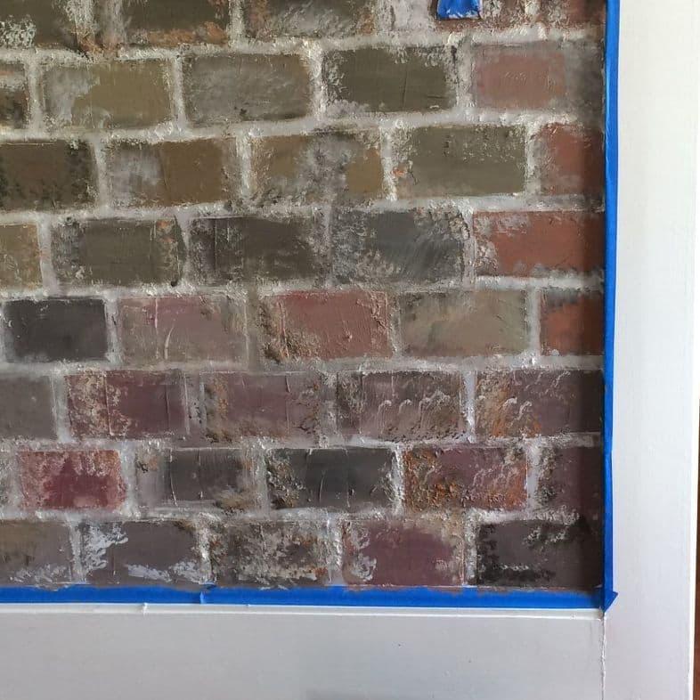 Искусственная кирпичная стена своими руками 5