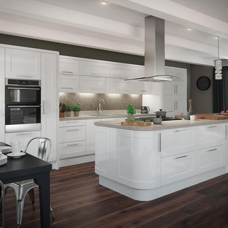Дизайн белой кухни 1
