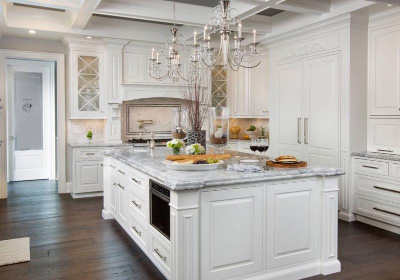 Дизайн белой кухни 11