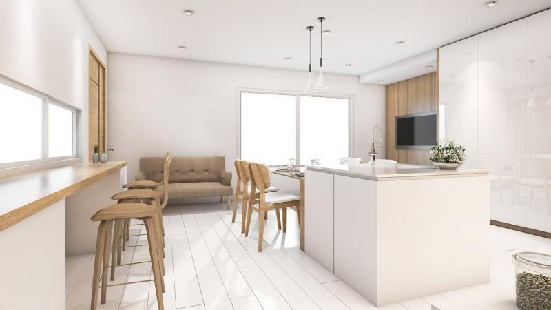 Дизайн белой кухни 13