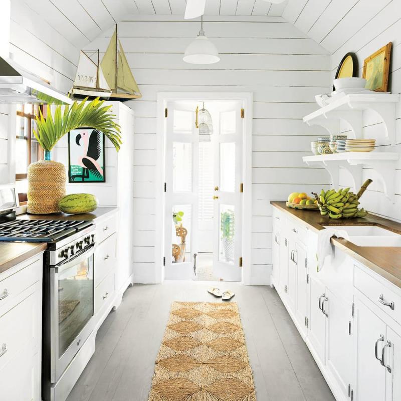Дизайн белой кухни 5