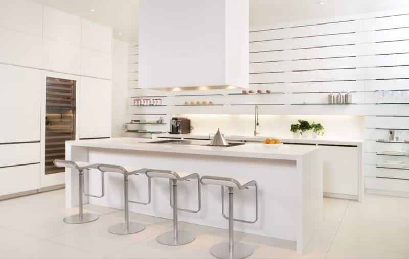 Дизайн белой кухни 6