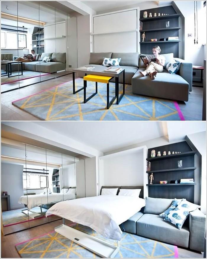 Гостиная со спальным местом складным