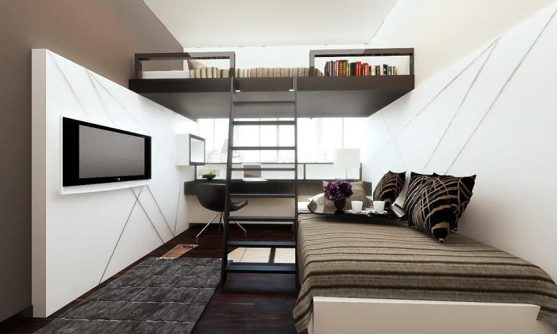 Кровать-чердак в инерьере