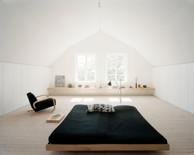 Дзен-минимализм в интерьере спальни 4