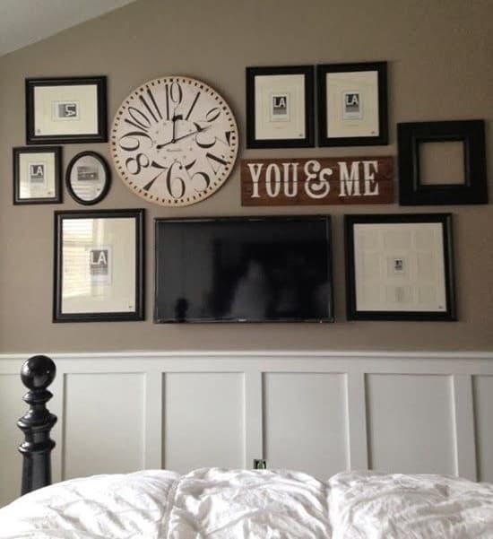 Семейные фотографии в интерьере спальни 2